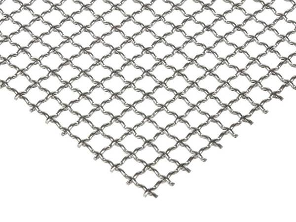 A piece of aluminum crimped wire mesh