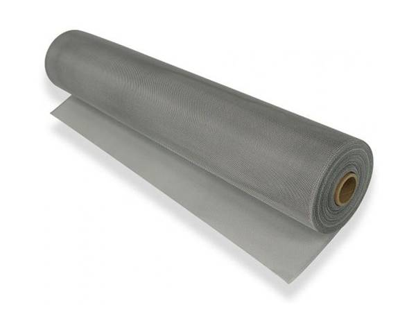 A roll of aluminum woven wire mesh