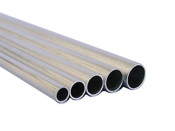 Five aluminum pipes in different diameter and thickness.