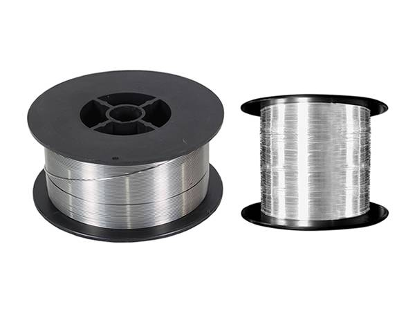 Two spools of aluminum wire