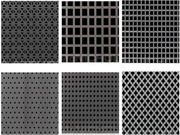 Perforated holes shape: round, square, cross, and decorative patterns.